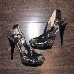 New Michael Kors Silver Heels